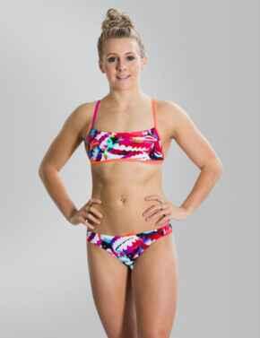 810838C179 Speedo Flipturns Two Piece Crossback Swimsuit - 810838C179 Orange/Blue