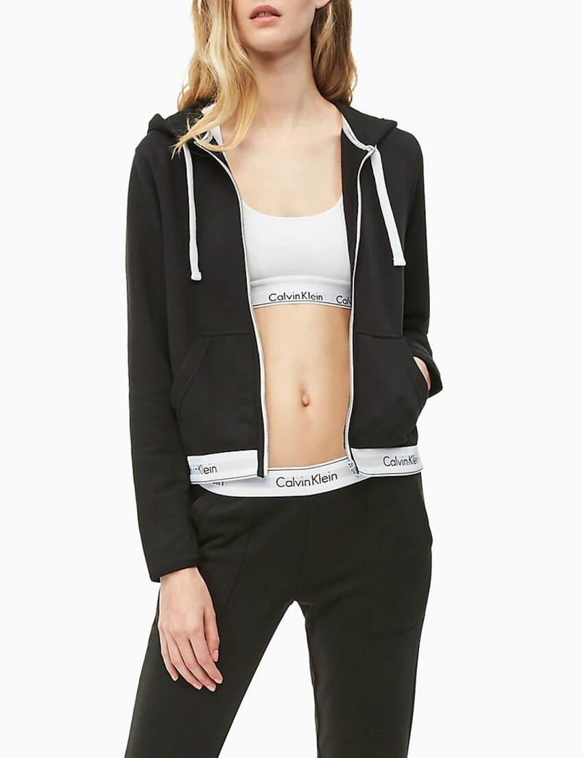 000QS5667E Calvin Klein Modern Cotton Lounge Hoodie - QS5667E Black