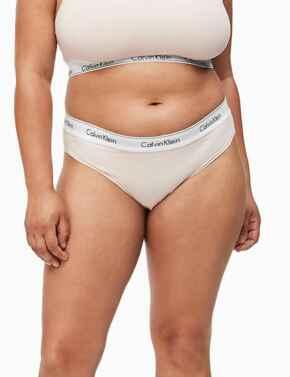 000QF5644E Calvin Klein Modern Cotton Plus Bikini Brief Style - QF5644E Nymphs Thigh