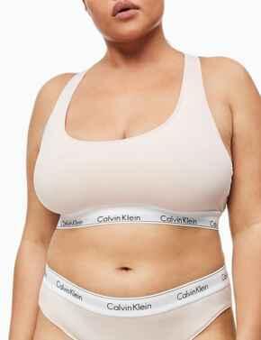 000QF5116E Calvin Klein Modern Cotton Plus Bralette Bra - QF5116E Nymphs Thigh