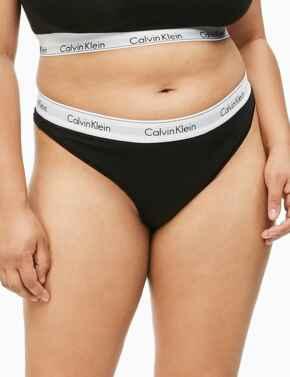 000QF5117E Calvin Klein Modern Cotton Plus Thong Brief - QF5117E Black