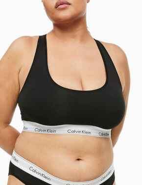 000QF5116E Calvin Klein Modern Cotton Plus Bralette Bra - QF5116E Black