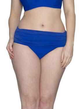 CS001512 Curvy Kate Sheer Class Deep Fold-Over Bikini Brief - CS001512 Cobalt