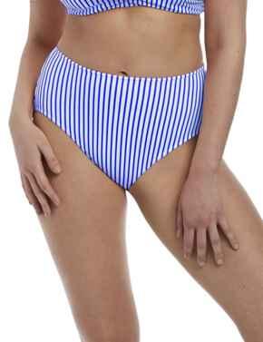 6555 Freya Totally Stripe High Waist Bikini Brief - 6555 Cobalt