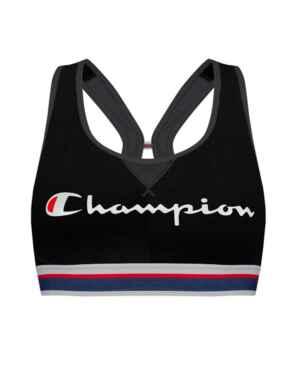 Y08R0 Champion Authentic Crop Top - Y08R0 Black