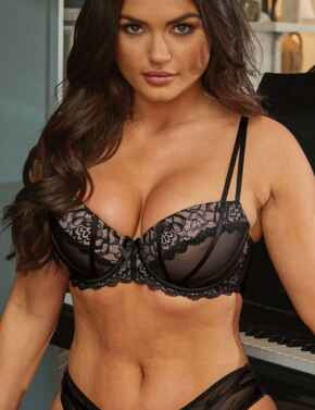18500 Pour Moi Confession Padded Bra - 18500 Black/Pink