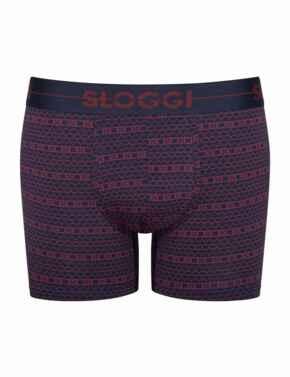 10198168 Sloggi Men Go Short 2 Pack - 10198168 Red/ Dark Combination