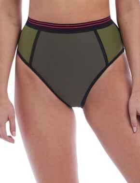 6825 Freya Club Envy High Waist Bikini Brief - 6825 Khaki
