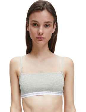 000QF6040E Calvin Klein CK One Cotton 2 Pack Bralette Bra - QF6040E Grey Heather