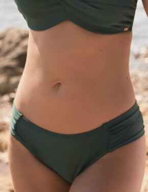 SW0885 Panache Anya Twist Gather Bikini Brief - SW0885 Forest