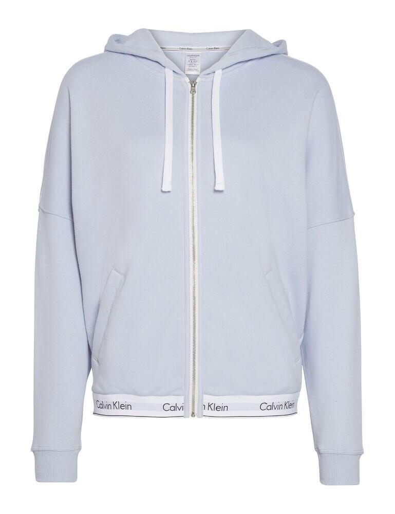 000QS5667E Calvin Klein Modern Cotton Lounge Zip Up Hoodie Top - QS5667E Ice Pulp