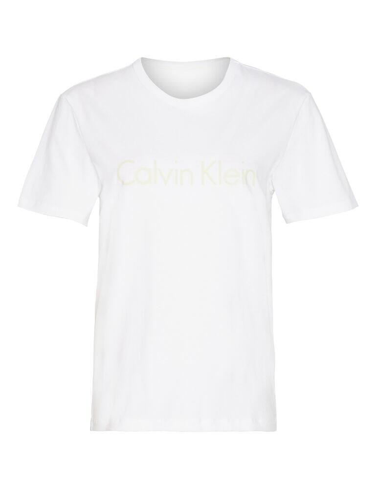 000QS6105E Calvin Klein Comfort Cotton Lounge T-Shirt - QS6105E White/Pale Moss