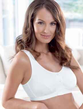 5315X Anita Care Isra Front Closure Mastectomy Operative Bra - 5315X White