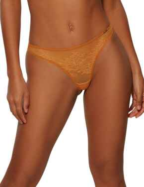13006 Gossard Glossies Lace Thong - 13006 Spiced Honey