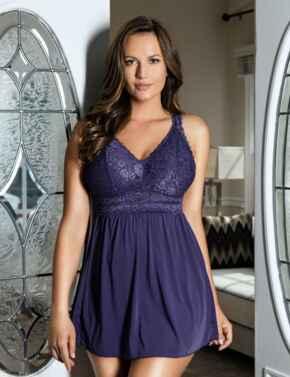 P5488 Parfait Adriana Babydoll - P5488 Mulberry