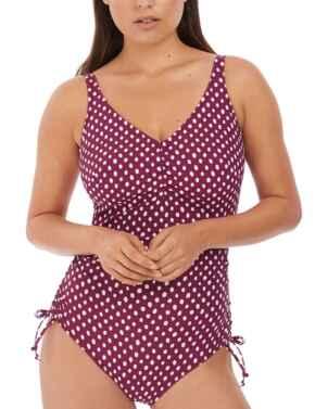 6729 Fantasie Santa Monica V-Neck Swimsuit - 6729 Garnet