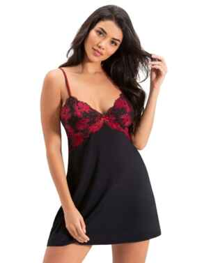 18708 Pour Moi Decadence Chemise  - 18708 Black/Red