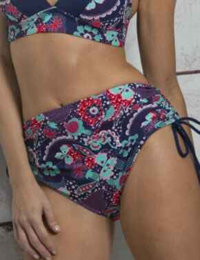 182071 Pour Moi Positano Adjustable Side Bikini Short - 182071 Navy/Paisley