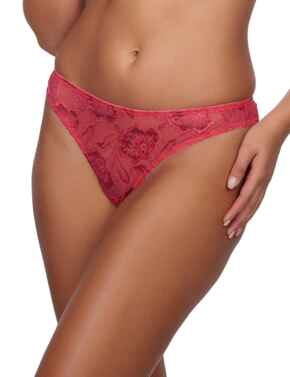 358166 After Eden Anna Lace Thong  - 10.35.8166 Coral/Red