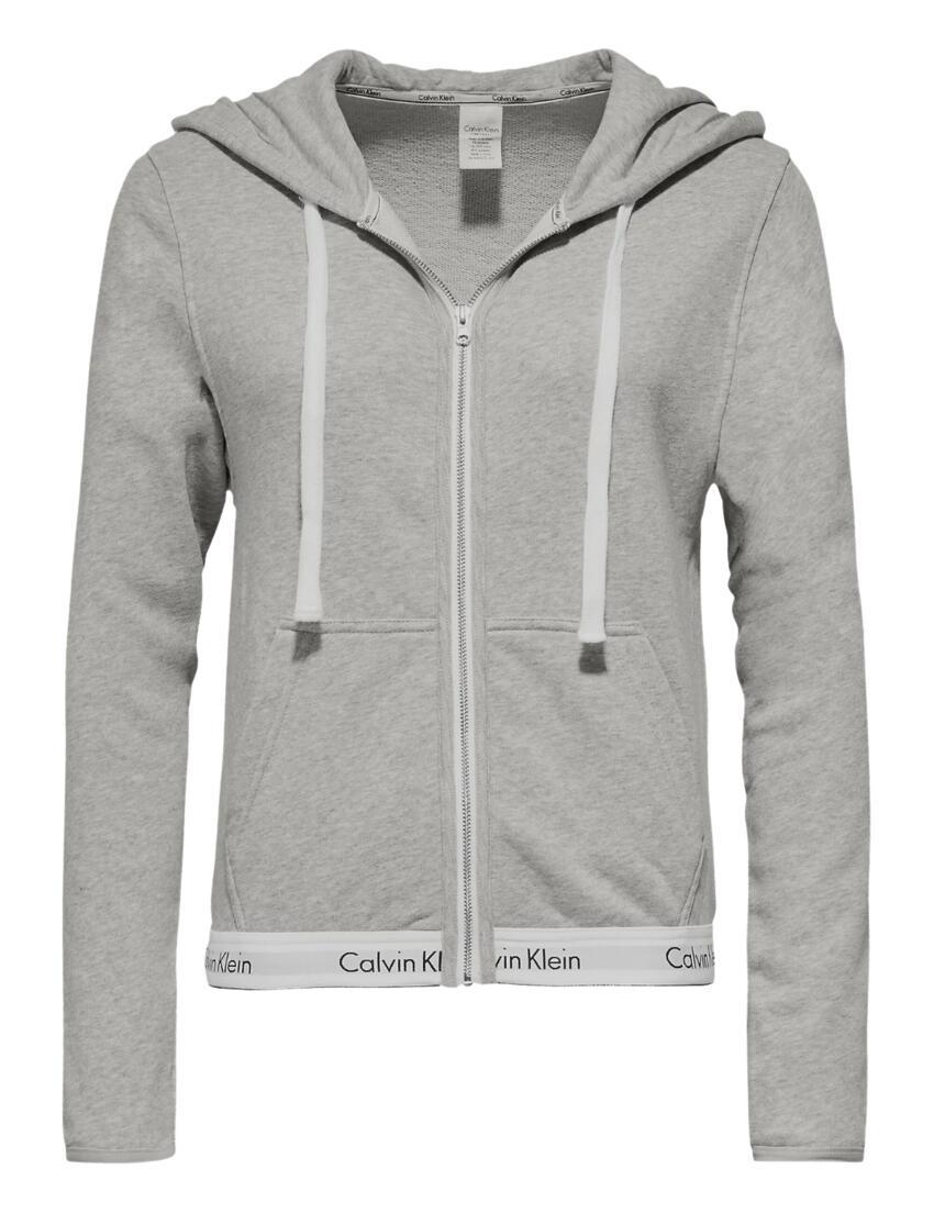 000QS5667E Calvin Klein Modern Cotton Lounge Hoodie - QS5667E Grey Heather
