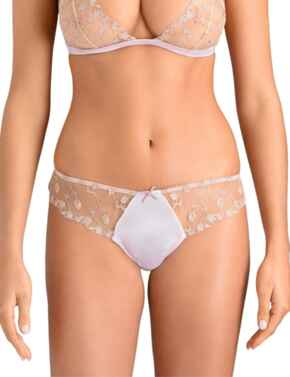 Muse by Coco De Mer Elizabeth Skirted Thong in Pink