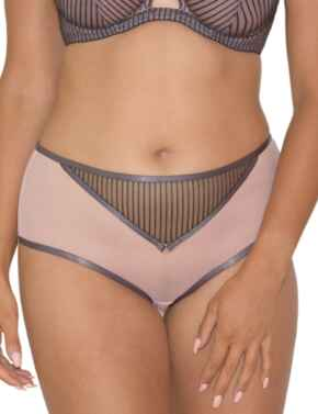 Curvy Kate Victory Pin-Up Short in Grey/Pink