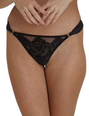 Playful Promises Annelise Lace Thong Black