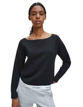 Calvin Klein Modern Cotton Sweatshirt in Black