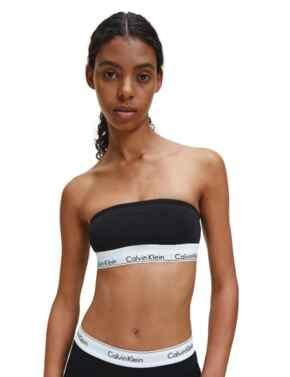 Calvin Klein Modern Cotton Bandeau Bra in Black