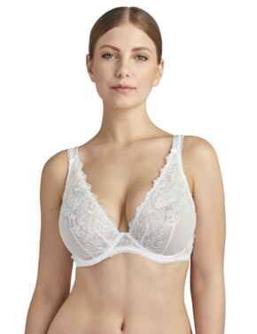 Aubade Pour Toujours Comfort Plunging Triangle Bra in Opale