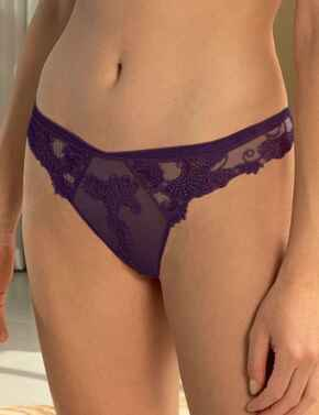 ACC0088 Lise Charmel Dressing Floral Thong - ACC0088 Dressing Indien