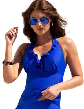 Pour Moi Splash Tankini Top Ultramarine