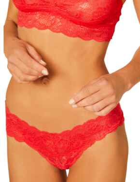 Cosabella Never Say Never Low Rise Thong in Rossetto