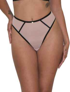 Scantilly by Curvy Kate Exposed Thong Pink/Black