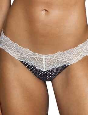 Andres Sarda Flower Short Thong Dots