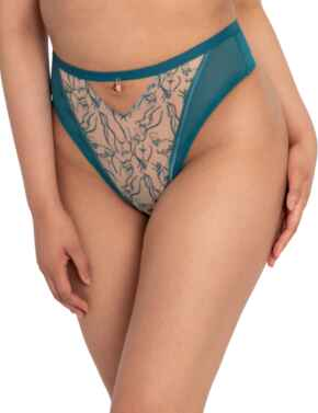 ST014212 Scantilly by Curvy Kate Education High Waist Thong  - ST014212 Teal