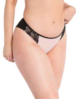 CK035202 Curvy Kate Emboost Brazilian Brief - CK035202 Black/Pink
