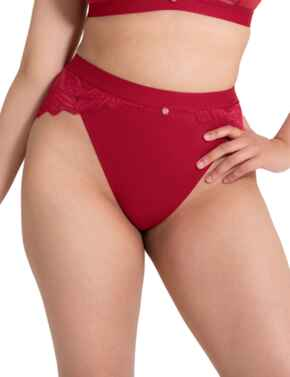 ST010208 Scantilly by Curvy Kate Indulgence High Waist Brief  - ST010208 Red