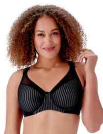Berlei Beauty Stripe Smoothing Bra Black/Grey