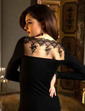 Lise Charmel Sublime En Dentelle Long Sleeve Top Black