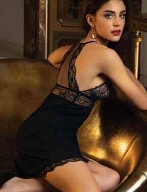 ALH1213 Lise Charmel Sublime En Dentelle Night Dress  - ALH1213 Black