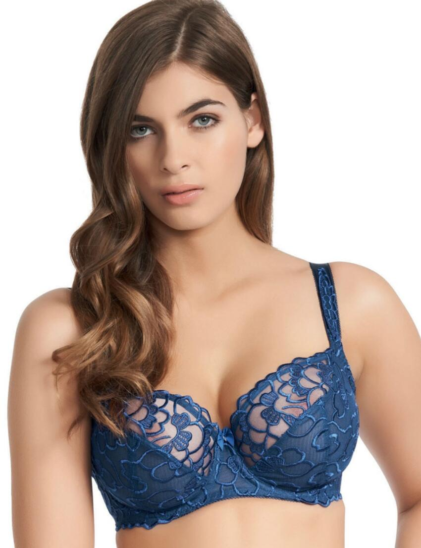 0312 Fauve Chloe Balcony Bra Electric Blue - 0312 Blue