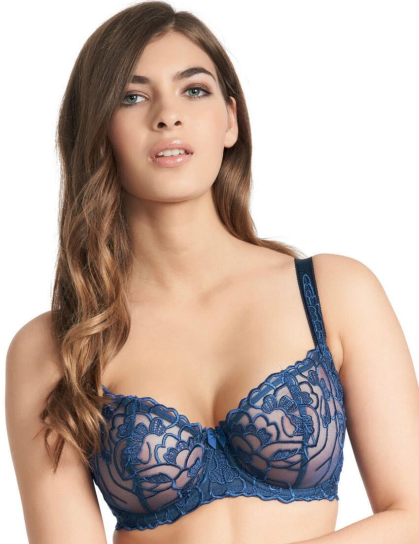 0311 Fauve Chloe Verticle Seam Bra Electric Blue - 0311 Blue