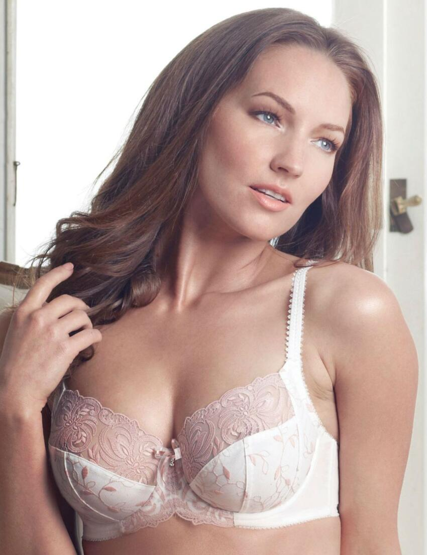 1297010 Charnos Fleur Full Cup Side Support Bra Ivory/Peach - 1297010 Bra