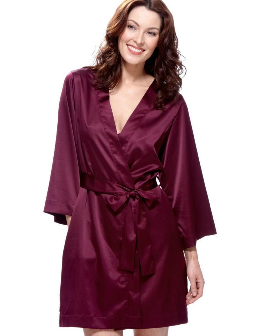 1185530 Lepel Georgina Wrap Dressing Gown Berry - 1185530 Wrap