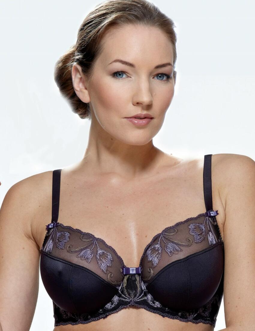 1013010 Charnos Isabelle Full Cup Bra Black/Iris - 1013010 Full Cup Bra