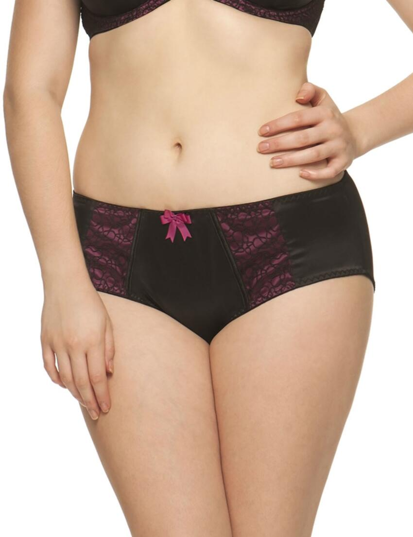 1905 Curvy Kate Lola Brief Black/Boysenberry - 1905 Brief