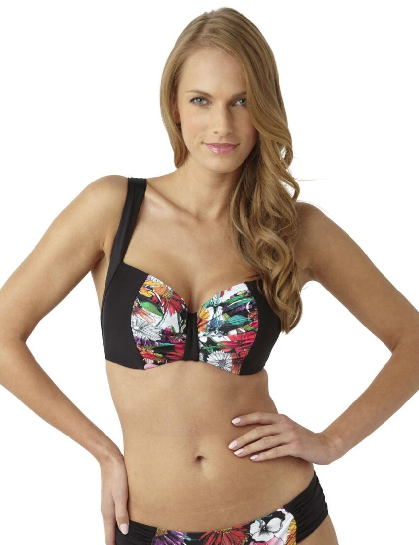 SW0842 Panache Annalise Bikini Top Black Floral - SW0842 Bikini Top