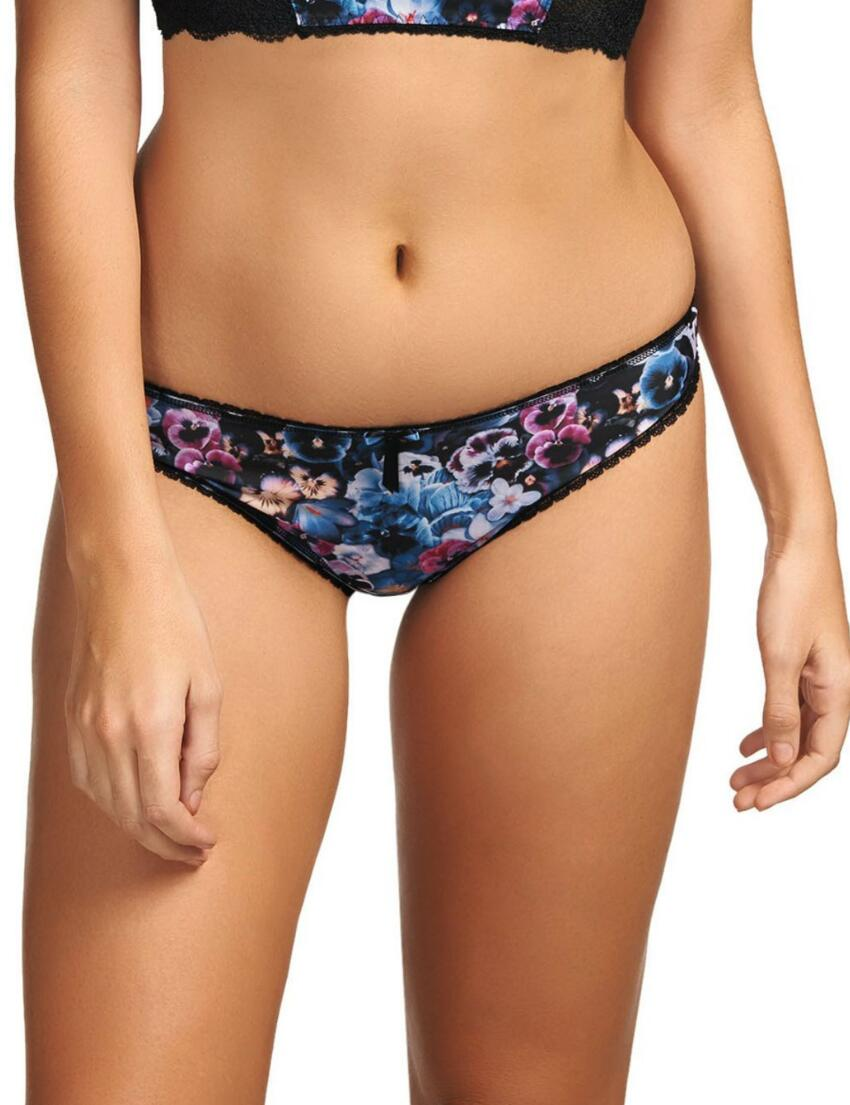 1687 Freya Pansy Thong Midnight - 1687 Thong