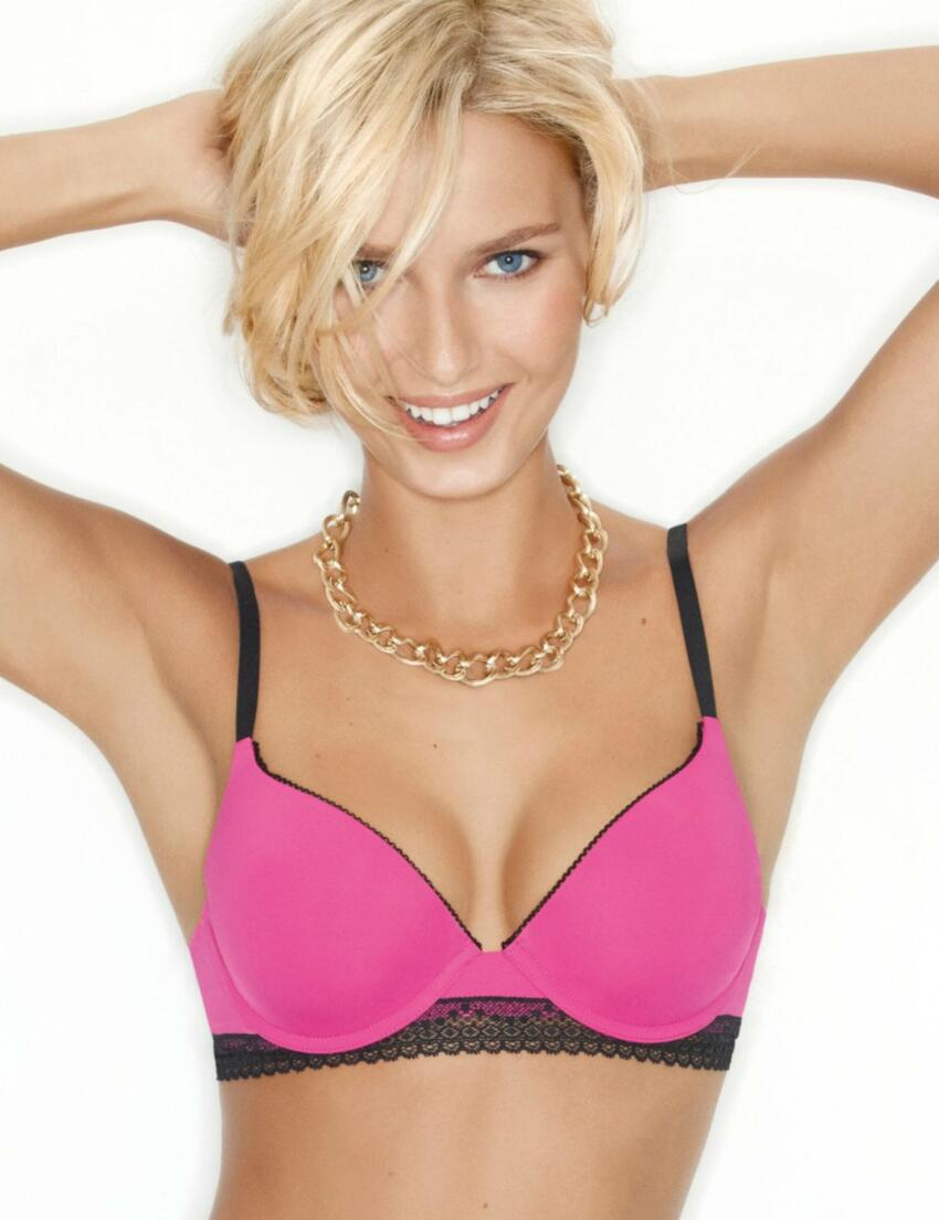 W01O8 Wonderbra 'Crazy Dressing Room' T-shirt Bra Fuchsia -  Lace T-Shirt Bra